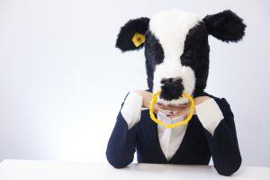 悩む神戸牛の写真